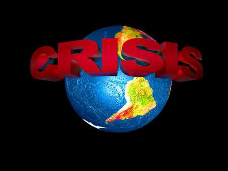 financiele crisis: de wereldwijde financiële crisis Stockfoto