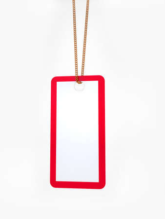 The Paper Tags Isolated On white Background. 3D photo