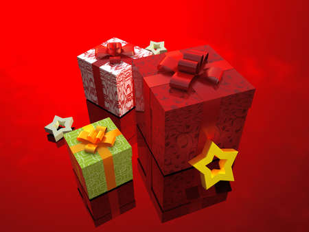 Gift boxes photo