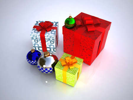 isolataion: Gift boxes