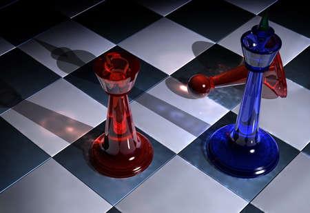 gamesmanship: Batalla de ajedrez Foto de archivo