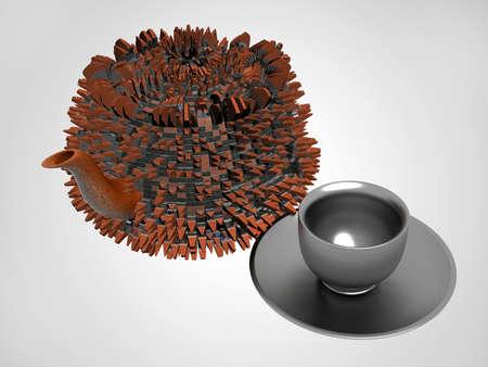 teapot & cup Stock Photo - 10162690