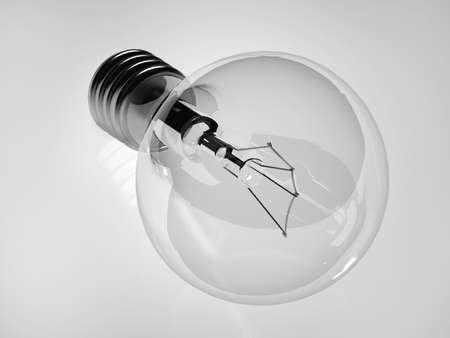 Light bulb on a white background photo