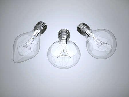 Three bulbs Stock Photo - 10162492