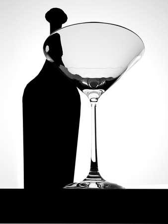 Glass for martini photo
