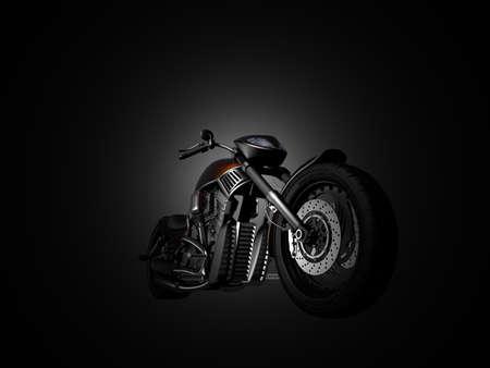 casco de moto: Moto sobre un fondo negro