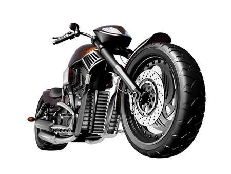 casco moto: Motocicletas sobre un fondo blanco Foto de archivo