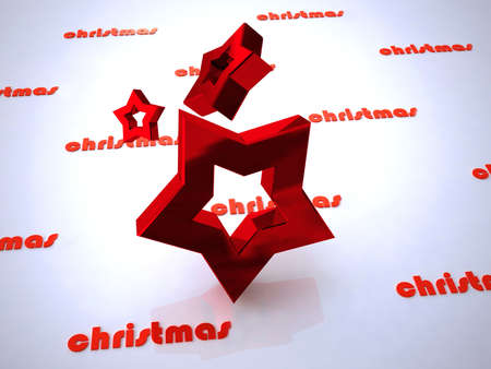 isolataion: christmas design of star