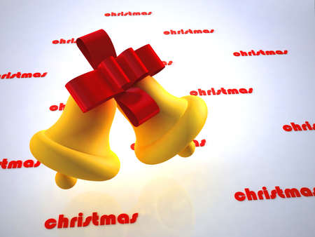 isolataion: christmas design of bell