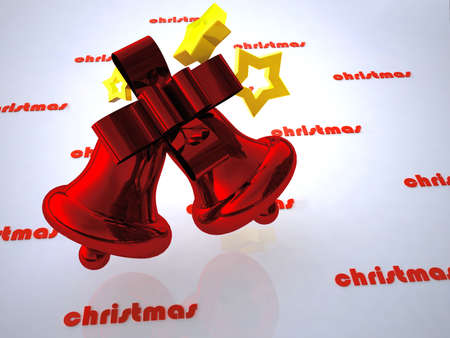 christmas design of bell Stock Photo - 10162596
