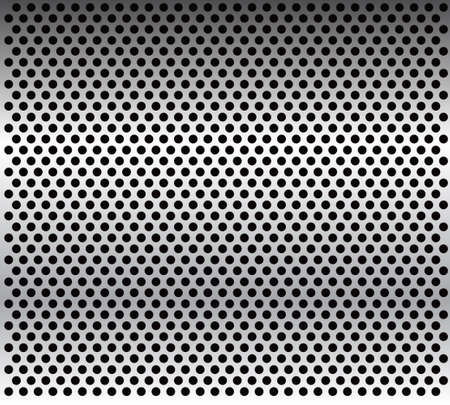 embossed: metal grid background-vector.Metal texture.