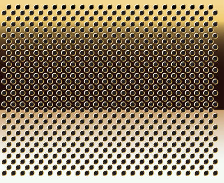 grating: Gold grid background-vector.Gold texture.
