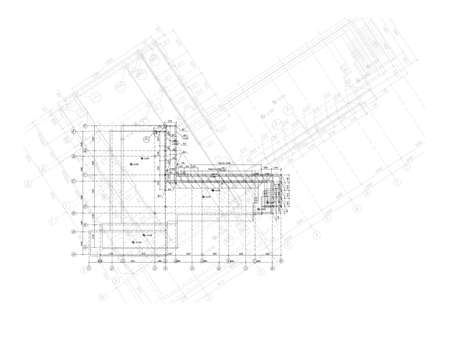 delineation: Vector elements for your design. The engineering plan of the house.