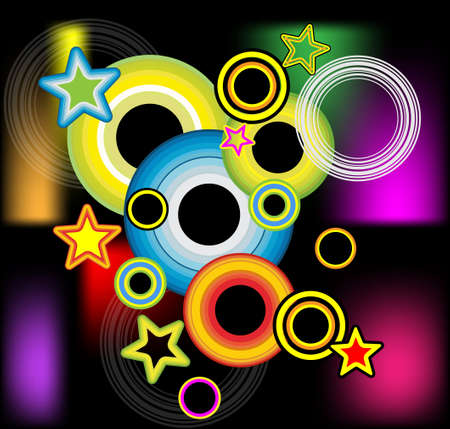 VECTOR Abstract Music and Disco Colorful Flyer Background Vector