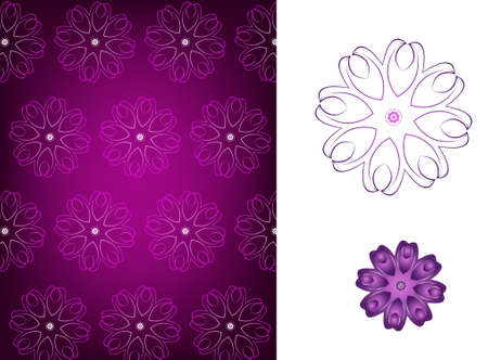 Wallpaper. Abstract vintage  background. Vector