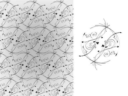 Vector illustration. Retro wallpaper Vector