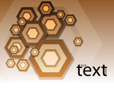 Hexagons 3D vector background. Illustration