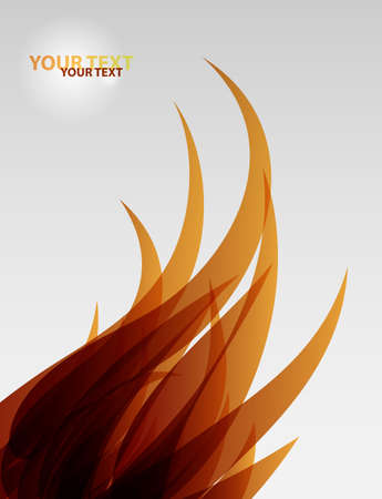 Abstract flame wave vector background Stock Vector - 10639276