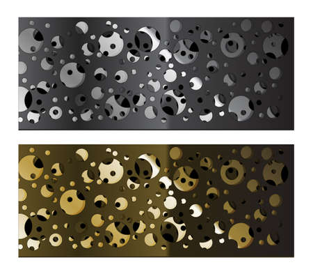 vent: Abstract metal grid background-vector. Background of the dissymetric punched iron