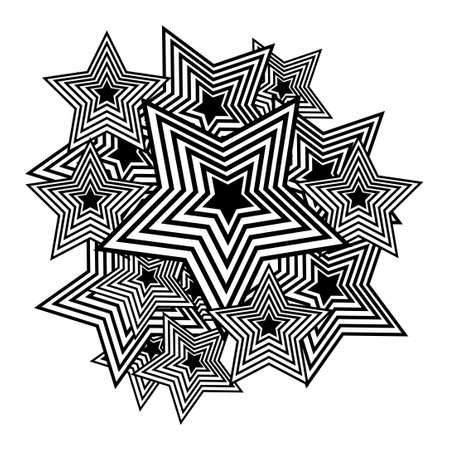 pop background: Vector black polygons on a white background. Pop-art background.