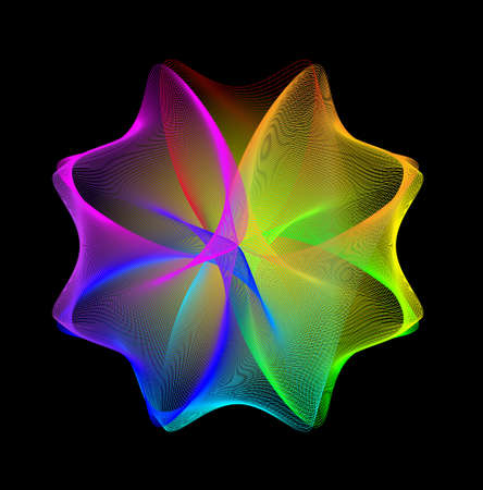 Abstract  rainbow background. Vector