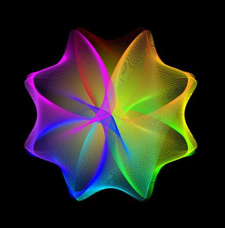 prisma: Resumen arco iris de fondo.