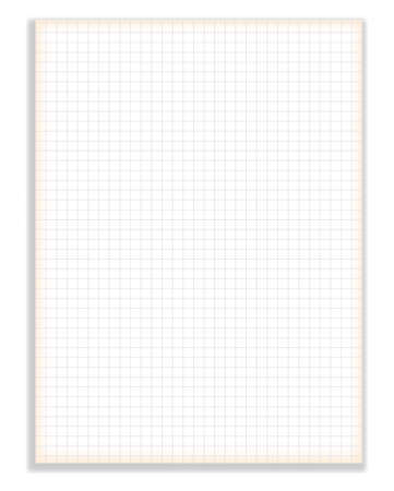 notebook paper background: Vector Blank squared notebook sheet Illustration