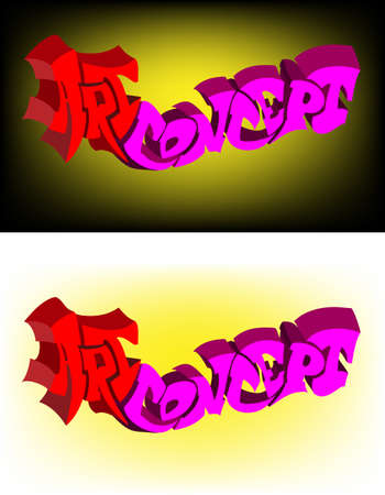 Vector background. An inscription art concept on a dark and light background. An element for your design.