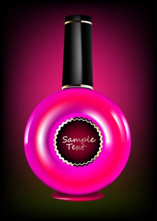A bottle of red nail polish Vector