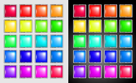 rectangle button set Stock Vector - 10639464