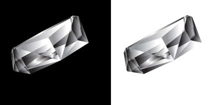 caustic: Vector diamond on a black and white backgroundr Illustration