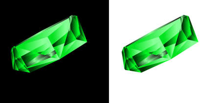 sapphire gemstone: Emerald on a black and white background. A vector illustration Illustration