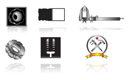 compasses: Set of corporate vector emblem templates. Business concept design.
