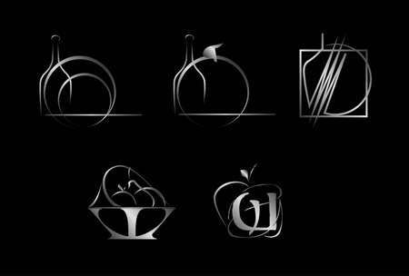 Set of corporate vector logo templates Vector