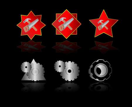 logotipo de construccion: Conjunto de plantillas de las empresas vector logo Vectores