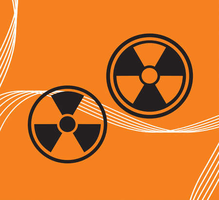 Vector sign on radiation on an abstract background Stock Vector - 10638909