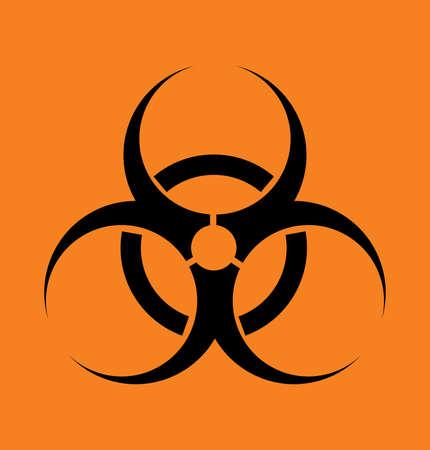 Vector sign biohazard on an orange background Vector