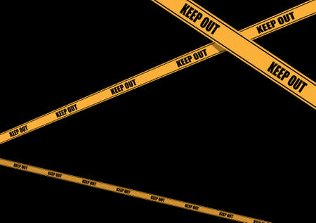 A variety of yellow caution tapes in vector format for construction and crime scene investigation concepts. Vector