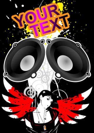 Template flyer for party Stock Vector - 10639032