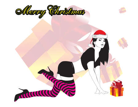 Christmas Woman Vector