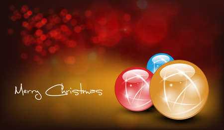 winter wish: Vector Christmas Card. Shiny Decoration
