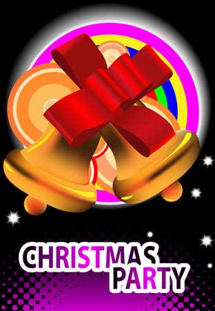 Christmas bells. Party background. Vector