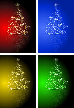 merrily: Vector abstract background. A Christmas tree in several colours.