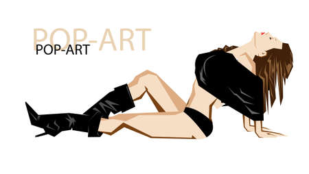 Fashion pop-art girl illustration Vector