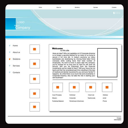 vector web template 1 Vector