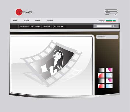 vector web template Иллюстрация