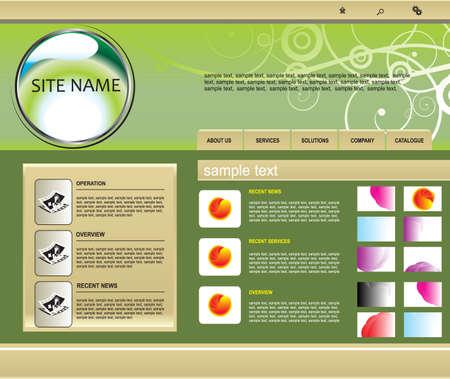 vector web template Vector