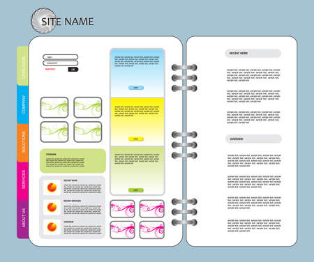 vector web template Vector