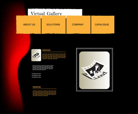 vector web template Illustration
