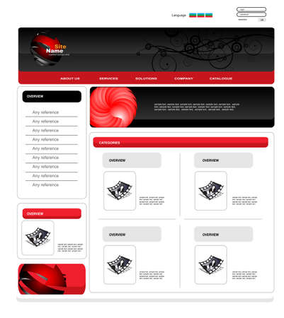 worldwide website: vector web template Illustration